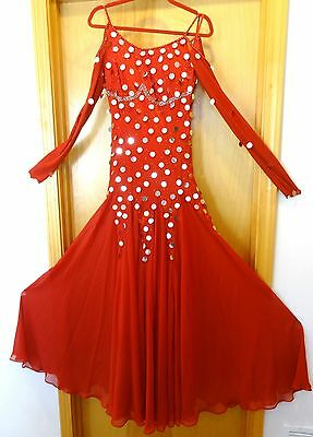 Ballroom American Standard Competition Dance Dress Gown Worn 1 time  - STUNNING