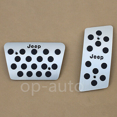 For Jeep Wrangler JK 2007-2017 Foot Gas Brake Pedal 2pcs Automatic Accessories