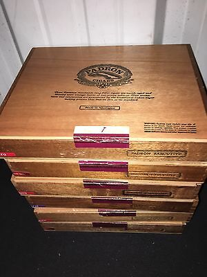 PADRON Executive Wooden Cigar Boxes! LOT OF 6! 10x8x2 A