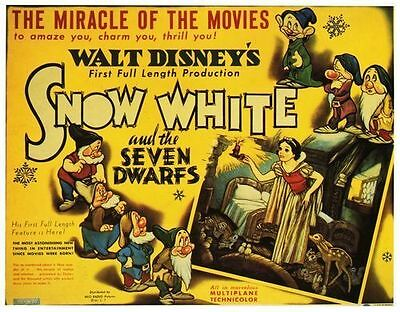Snow White and The Seven Dwarves Classic Disney Movie  Poster  A2 Reprint