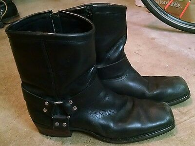 Dingo harness boots. mens size 15 D black leather motorcycle/work boots.