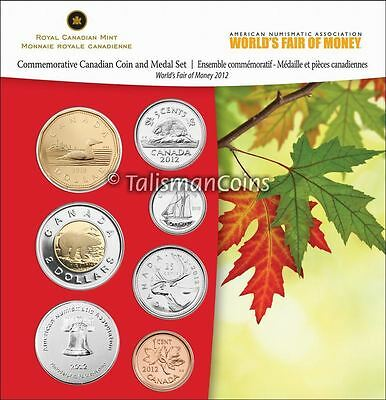 Canada 2012 ANA Philadelphia 7-Coin Mint Set Coin Show Special Ed. MINTAGE 500