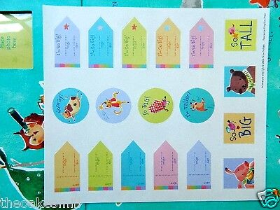 "NIB Child Height Wall Chart Poster 13"" to 47"" Range & Stickers Nursery Rhymes"
