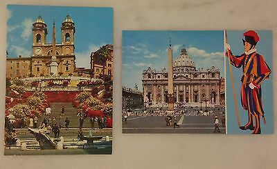 Lot of 5 Vintage Postcards of Rome, Italy, and Vatican City; Colosseum; Basilica