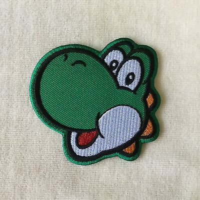 f158c85279 YOSHI DINOSAUR HEAD Super Mario Embroidery Iron On Patch Badge