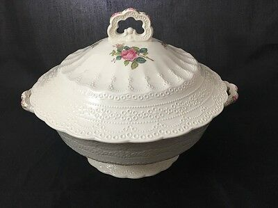 Vintage Spode China Billingsley Rose  Round Covered Vegetable Bowl Old Backstamp