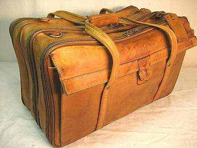 Hartmann Luggage Belting Leather Triple Compartment 747 Carry On Garment Bag