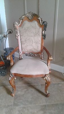 8 Ornate Dinning Room Chairs by Bernhart