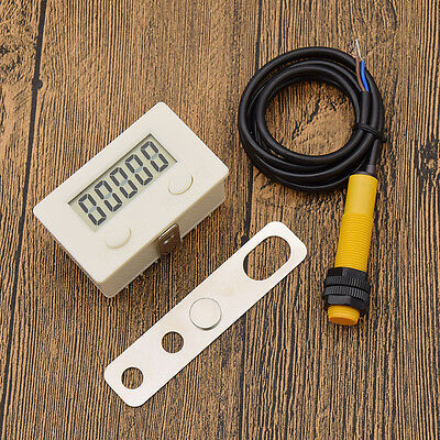 LCD Digital Display Counter 0-99999 Digit Tally Proximity Switch Sensor Magnetic