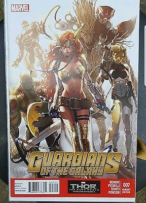 Guardians of the Galaxy #7 1:100 Angela Pichelli Variant HTF Marvel NOW! 2014