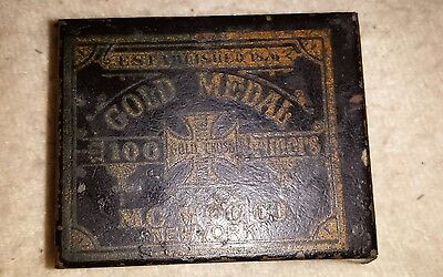 Gold Medal 100 Primers XXXX Tin mining 1878 Gold Cross Vintage Old