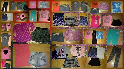 HUGE LOT GIRLS SIZE 14 16  back to school outfits tops jeans skorts x