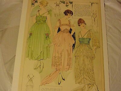 Vintage Graphic Advertising Art - 1917- Elite Styles -Women's Fashion Ad Page(2)