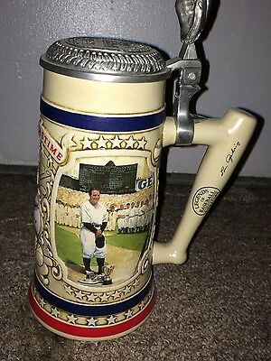 "Lou Gehrig New York Yankees ""Premier Issue"" Beer Stein From The Bradford Museum"