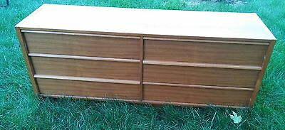 000 Vintage Jesper 6 Drawer Mid Century Dresser Light Color Wood