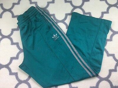 COOL! Mens VINTAGE 90s ADIDAS TREFOIL Green TRACK Jogging PANTS  Large