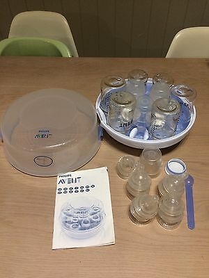 Philips AVENT microwave steam steriliser with bottles included
