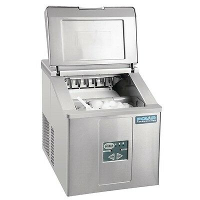 Polar Counter Top Ice Maker  Output 15kg 415X365X420mm Stainless Steel Machine