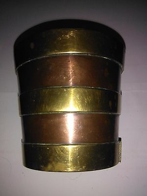 Victorian heavy copper with brass banded pot
