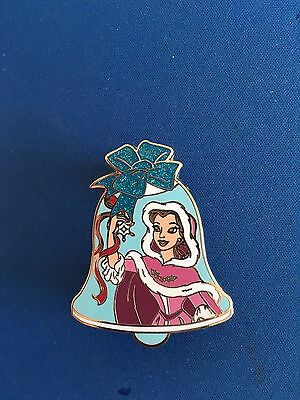Disney Beauty And The Beast Princess Belle Glitter Bell Pin