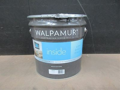Walpamur 15 Litres Inside Low Sheen Finish White Can Freight Paint