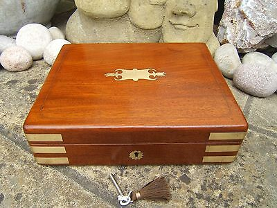 Superb Early 19C William Day Antique Document/jewellery Box - Fab Interior