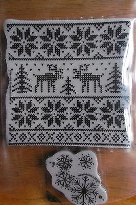 Stampendous! Stamp - Christmas Sweater/Snowflakes- Huge Craft Room Clear Out
