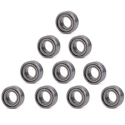 10pcs MR105ZZ MR105 5X10X4mm Miniature Ball Bearings Shielded Mini Deep Groove