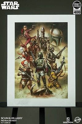 Sideshow Star Wars Scum And Villainy Art Print only