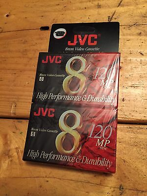 Two Pack JVC 120 mp 8mm Video Cassette Tapes