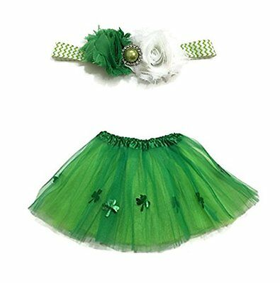 Rush Dance Ballerina Girls Dress-Up Kelly Green St Patrick's Day Tutu & Headband
