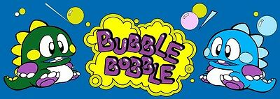 Bubble Bobble Arcade Marquee For Reproduction Header/Backlit Sign