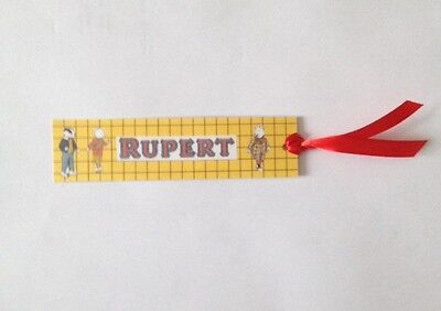 Handmade Rupert Bear - bookmark