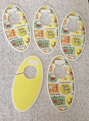 Nursery Rhyme Baby Closet Dividers Yellow Reversible Write-on Jack and Jill