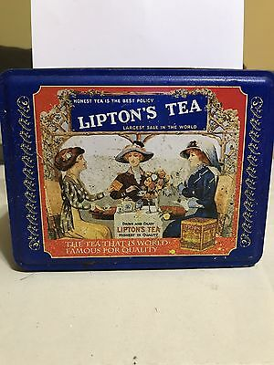 Lipton's Tea Tin Can Reusable Vintage Storage Container Limited Edition