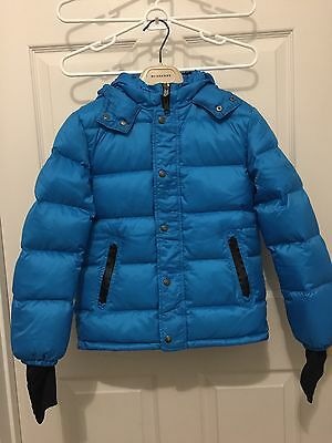 Burberry Children Boys Ski Down Jacket, Electric Blue, Size 10Y