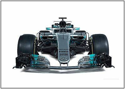 Mercedes Formula One F1 Car Large Wall Art Poster Print A0 A1 A2 A3 A4 Maxi