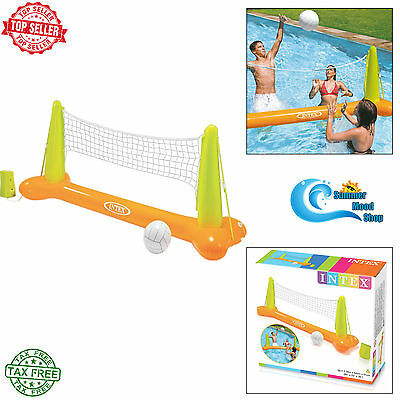Swimming Pool Inflatable Volley Ball Net Set Kids Summer Fun Toy Play Float NEW