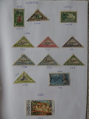 Liberia collection of 22 stamps