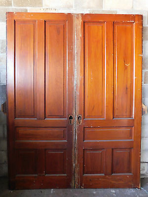 Antique Victorian Style Pocket Doors - Circa 1890 Fir Architectural Salvage
