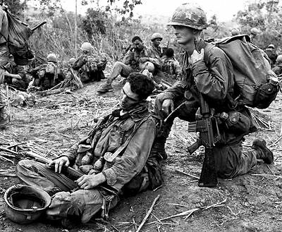Vietnam War U.S. Army 101st Airborne Exhausted From Patrol 8.5x11 Photo