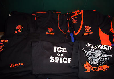 Lot Of Jagermeister Shirts....all New.....mens And Ladies...18 Shirts In All3