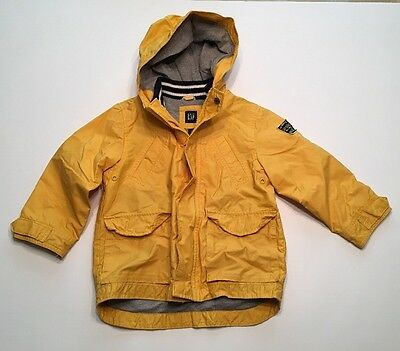 Baby Gap Toddler Lined Yellow Rain Jacket Size 4T