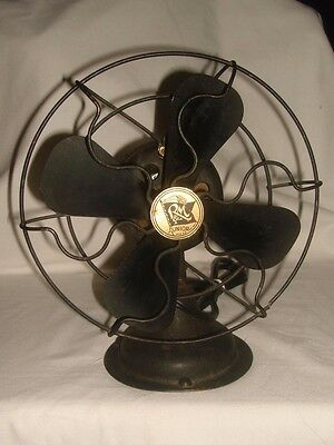 "Authentic Original 9"" 914 Robbins & Meyers Junior All Black Exposed Blade Fan!!"