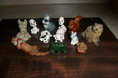 Vintage lot of 12 miniature Collectable Animal Figurines (Stone and Ceramic)