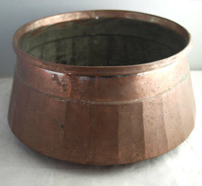 Unusual Vintage Large Copper Bowl - Planter Or Log Bin