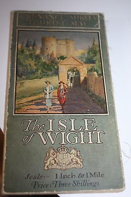 Vintage Ordnance Survey Tourist Map Isle Of Wight