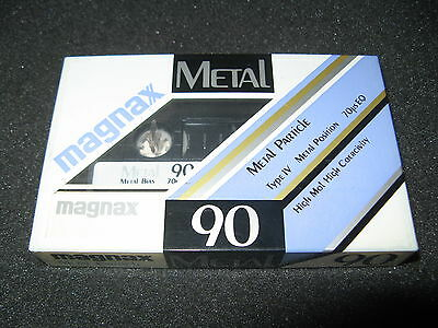 MAGNAX METAl 90   audio cassette blank tape sealed. For collectors.Made in Japan