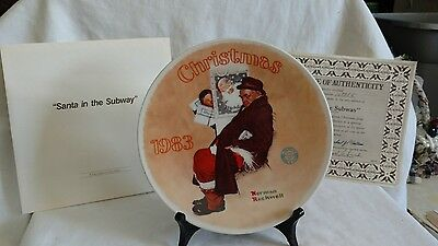1983 Christmas, Norman Rockwell collector plate