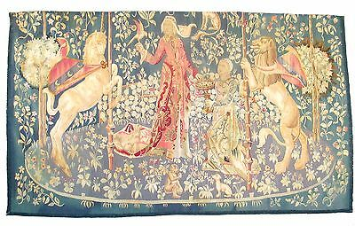 A Late 19th Century Handwoven Tapestry - The Lady and the Unicorn
